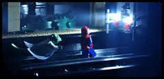 Spider-Man vs. the Lizard 3 (Xenomurphy) Tags: station fog subway comic lego spiderman super lizard hero superhero spidey marvel dillane frankdillane
