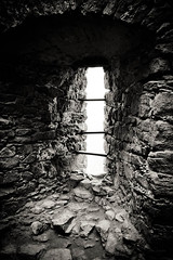 Through The Window (thratzinger) Tags: stilllife blackwhite stillleben advent sw stein wanderung ruineaggstein