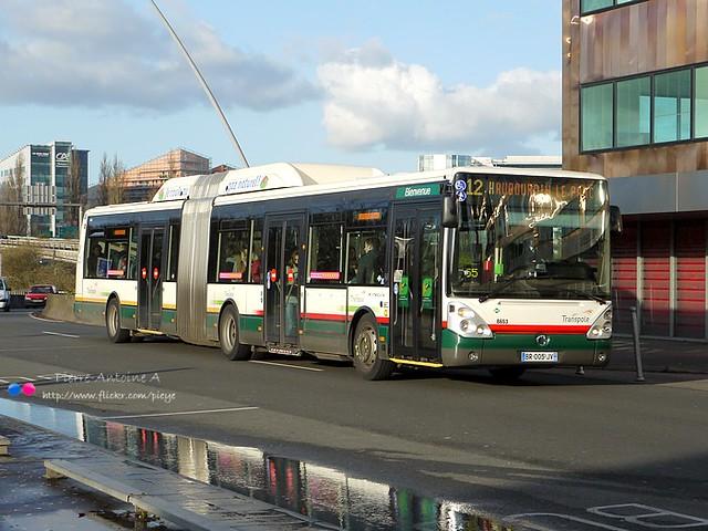 Irisbus Citelis 18 GNV TRANSPOLE n°8653