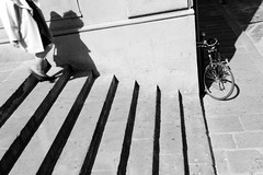 I due ospiti di cui uno inatteso (carpe shot) Tags: street shadow two bw bike stone mystery composition florence blackwhite couple ombra streetphotography atmosphere symmetry stairway diagonal firenze pietra periferia due simmetria coppia diagonale composizione