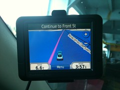 Our GPS, Barbara, was not too helpful on the ferry.