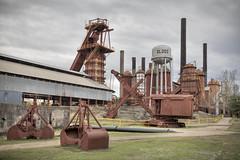 Sloss Furnaces Front (Kevin. B.) Tags: canon eos birmingham industrial mark watertower alabama ii 5d stacks blastfurnace pigiron nationalhistoriclandmark slossfurnaces