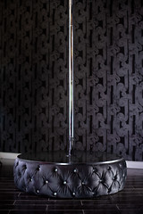 "8031 TUFTED VELVET MINI STAGE WITH STRIPPER POLE - ACCENTED WITH SWAROVSKI CRYSTALS • <a style=""font-size:0.8em;"" href=""http://www.flickr.com/photos/43749930@N04/6887581344/"" target=""_blank"">View on Flickr</a>"