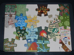 Girl Scout Puzzle (zigg13pra) Tags: altered puzzle scouts girlscouts craftster girlguides
