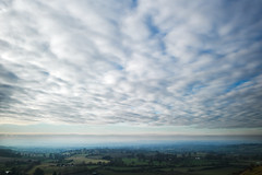 Far 'n' Wide (ReportageImages) Tags: leica england sky cloud landscape view 28mm hill summicron fields wiltshire cley m9p