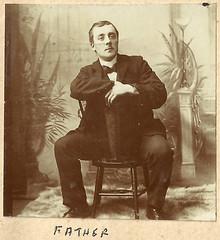 John Hook in a photo studio, early 1900s (whatsthatpicture) Tags: album hook edwardian publicdomain johnhook