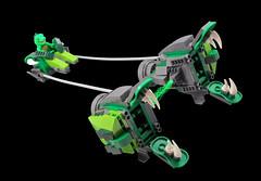 Lizard Man Podracer (halfbeak) Tags: lego minifig moc series5 lizardman fbtb2012podracerchallenge