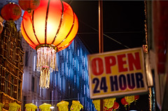 Open 24 Hour (garryknight) Tags: london sign photoshop nikon chinatown open elements creativecommons 24hours lightroom 50mmf18 d5100 topazdetail topazinfocus