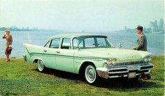 1959 De Soto Firesweep 4-Door Sedan (aldenjewell) Tags: sedan postcard desoto 1959 4door firesweep