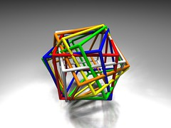 SIx Cubes Compound Try III (fdecomite) Tags: geometry math povray