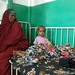 Two girls in a ward for malnourished children at Mogadishu's Benadir hospital