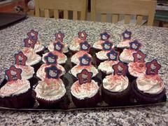 Hello Kitty cupcakes by Brenda L