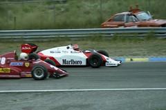 1983 GP Zandvoort - Niki Lauda - McLaren MP4/1 en René Arnoux - Ferrari 126C (vroemmm) Tags: ferrari 1983 formula1 zandvoort gp nikilauda circuitzandvoort renéarnoux mclarenmp41 ferrari126c