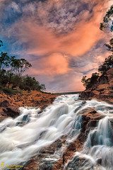 Over the Edge (southern_skies) Tags: sky water evening gorge toowoomba perseverance spillway