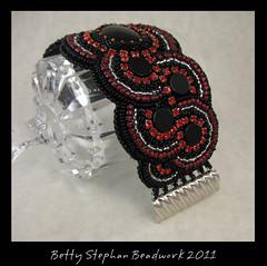 Elegant Element clasp (betty.stephan) Tags: jewelry beading beadwork beadednecklace beadweaving beadembroidery beadedjewelry cabochons polymerclayjewelry bettystephan