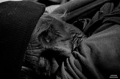 When i sleep! (Hassan Mohiudin) Tags: old sleeping white black lady nikon village hassan mohiudin d5100