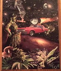 Space Grass (JohnnyUnderFireOften) Tags: streetart art collage design diy stickerart handmade detroit craft ufo homemade graffit eminem 313 thed underfireoften