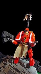 Adeptus Astartes, Crimson Consul WIP (brick-a-brack) Tags: marine dragon lego space wip warhammer daemon wh40k hardsuit adeptusastartes crimsonconsul