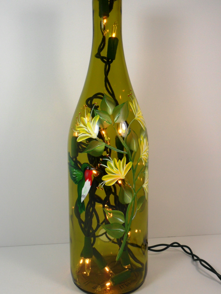 The world 39 s best photos of flowers and paintingbyelaine for Painting flowers on wine bottles