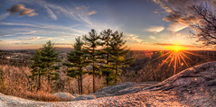 Top of Lookout Rock (Best Viewed on Black) (John Davenport Photography) Tags: sunset landscape hdr panaramic landscapehdr sunsethdr tokina1116mmf28 nikond7000 panaramichdr