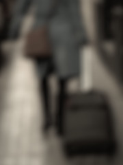 Wait for me (Oscar Barrera Photography) Tags: street people woman blur calle mujer gente streetphotography social desenfoque abstracto siluetas skarhache