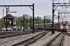 Here Comes the South Shore (The Mastadon) Tags: road railroad chicago train illinois midwest rail railway trains il transportation locomotive railroads chicagoland douchebag flatlander midwestern 4202012