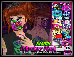 Beauty Killer - Infirmary Mask - Graffiti (KEVINN Draconia (Beauty Killer)) Tags: fashion punk emo scene sl secondlife virtual beautykiller kevinndraconia