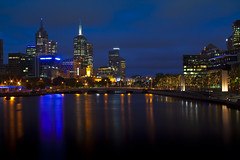 Melbourne CBD at night (saahmadbulbul) Tags: