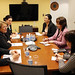 UN Women Executive Director Michelle Bachelet meets with Badraa Dolgor, Senior Advisor to the Prime Minister and Deputy Chair for the National Committee on Gender Equality of Mongolia