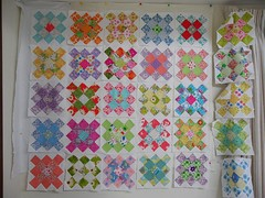 Design wall grannies (blueberry patch cathy) Tags: from square quilt squares scraps granny along