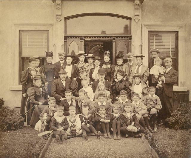 Family group in the Isle Of Man, 1893 or 94.