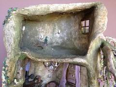 Tree trunk fairy house (Torisaur) Tags: sculpture fairytale witch wizard treehouse fairy faery hobbit dollhouse dollshouse fairyhouse treesculpture fairytree tinybjd dollhouseminiature fairyfurniture torisaur