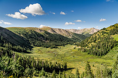 Meadow On Independence Pass (Ron Scubadiver's Wild Life) Tags: mountain colorado meadow blue sky nikon landscape wilderness alpine outdoor people