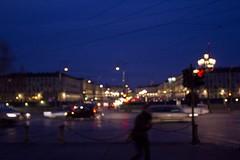 . (Spicchio) Tags: blue red green bar night square torino person lights streetlight exposure po luci turin nicht notte piazzavittorio