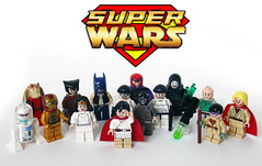 Super Wars! (Oky - Space Ranger) Tags: woman man up wonder star back funny iron palpatine yoda lego princess luke super superman