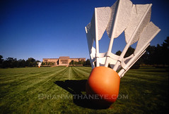 Nelson Atkins Museum of Art - Kanas City, MO (Brianwithaneye) Tags: orange game green museum birdie giant big midwest ks lawn large mo kansascity missouri kansas nelsonatkins shuttlecock birdy