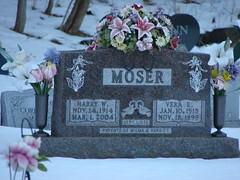 Harry and Vera Moser (Philip Weiss) Tags: grave tombstone genealogy guttenbergiowa guttenbergcemetery