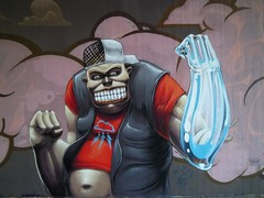 hit you with my phantom-arm (Pixeljuice23) Tags: streetart graffiti wiesbaden mainz friendlyfire pixeljuice pixeljuice2