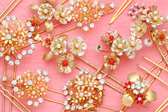 gold hairpin (akito51) Tags: pink white flower color art beautiful beauty fashion japan metal lady female hair asian japanese gold golden design women shiny asia pin shine many antique feminine decorative background steel traditional group decoration hairdo jewelry retro diamond ornament geisha kimono pearl aged ornate orient expensive luxury hairpin jewel barrette elegance accessory gemstone hairgrip