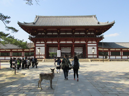 Entrée du temple, Nara, Japon