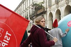 L'altra Europa (Metella Merlo) Tags: futuro elezioni lavoro bandiera manifestazione viapo corteoprimomaggiotorino2014 listatsipras