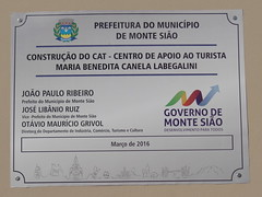 DSC04145 CAT Centro De Apoio Ao Turista Maria Benedita Canala Labegalini Em Monte Sio MG (familiapratta) Tags: brasil iso100 sony montesio cidadesbrasileiras montesiomg hx100v dschx100v