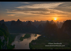 Sunset over hundreds of mountains, Xingping, Guangxi Autonomous Region, China (jitenshaman) Tags: china travel cruise sunset sun mountains tourism nature water river landscape asian boats liriver li boat scenery asia guilin yangshuo hill sightseeing chinese aerial hills limestone vista destination peaks overlook viewpoint karst birdseye guangxi xingping worldlocations laozhaishan laozhaihan birdseyepavillion