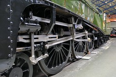 British Rail Class A4 4-6-2 Pacific 'Dwight D Eisenhower' streamlined locomotive, 1937 - National Railway Museum, York, England (edk7) Tags: york uk railroad england museum train pacific steel railway rr steam locomotive streamlined northyorkshire nrm nationalrailwaymuseum 1937 forging rwy 462 dwightdeisenhower 2013 londonandnortheasternrailway nikond300 classa4 lner4496 edk7 britishrailways60008