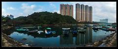 P5020001-Pano (YKevin1979) Tags: panorama reflection hongkong olympus coastline    omd 918  tseungkwano  f456   micro43 microfourthird 918mm mzuiko olympus918mmf4056 em5ii em5m2