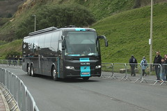 Team Sky (Steve Dawson.) Tags: uk england sky signs buses race canon eos is team 1st yorkshire may bikes hills cycle tdy scarborough usm ef28135mm seafront kom uci sprints 2016 orica f3556 50d ef28135mmf3556isusm katusha canoneos50d tourdeyorkshire