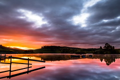KNAPPS LOCH (beemer boy) Tags: sunrise reflections loch renfrewshire 09ndgrad lee09nd killmacolm