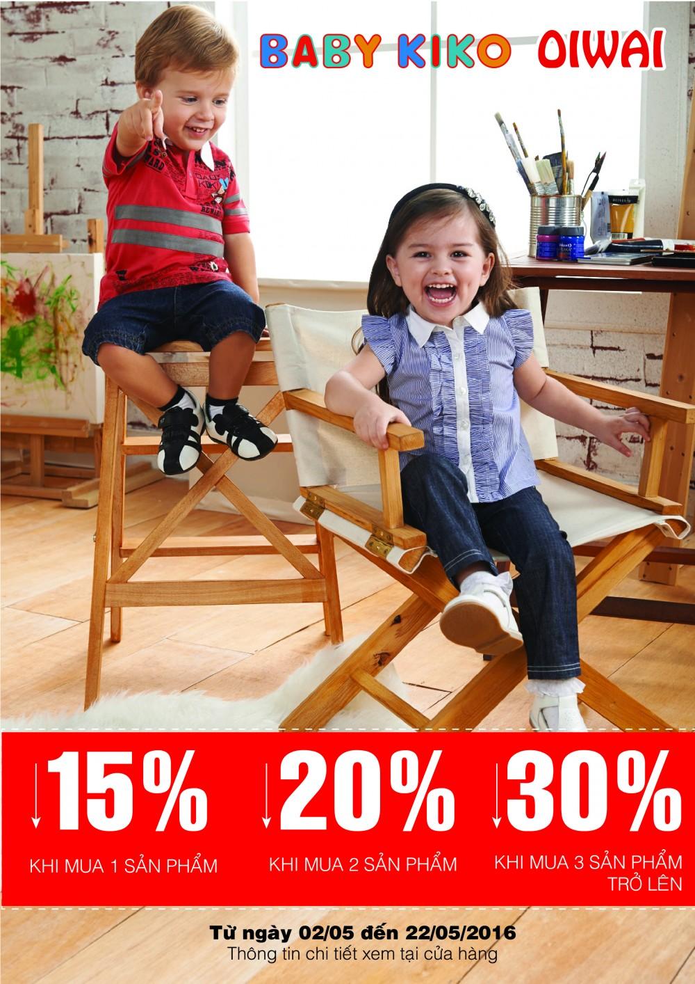 Thời Trang Trẻ Em Babykiko - Oiwai Siêu Khuyến Mãi Tháng 5