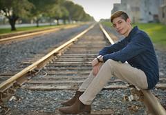 "Adam ""portrait"" (Darren W Brown) Tags: family sunset model nikon texas katy houston familyportrait houstontexas d800 railroadtracks katytexas seniorportrait nikon70200 nikond800 nikonsb900"
