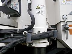 Steel and Fabric (MTSOfan) Tags: philadelphia machine ps paving pointandshoot asphalt milling warninglabels